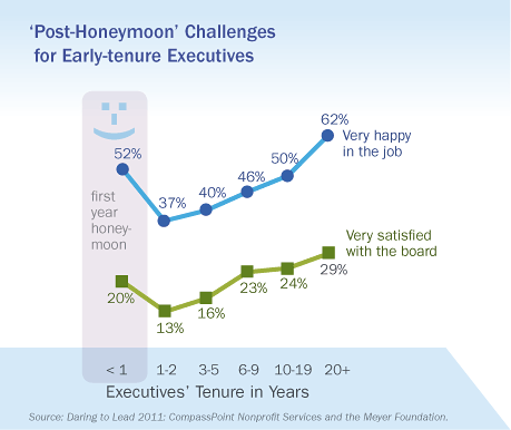 'Post-Honeymoon' Challenges for Early-tenure Executives, Daring to Lead 2011