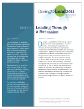 Thumbnail of Brief 1, Daring to Lead 2011